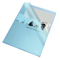 Sichthülle Standard Plus, A4, PP, genarbt, 100 Stück, blau