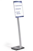 Durable 481323 sign holder/information stand A3 Acrylic Silver