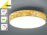 Led Deckenleuchte Lugano ø 40cm Stoff Goldfarben Integrierter