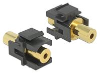 Keystone Modul Klinkenbuchse 3,5 mm 4 Pin an Klinkenbuchse 3,5 mm 4 Pin vergoldet schwarz, Delock® [86383]