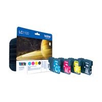 Brother LC-1100VALBPDR inktcartridge Origineel Zwart, Cyaan, Magenta, Geel 4 stuk(s)