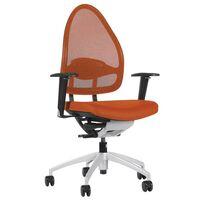 Sedia girevole per ufficio, elegante, con schienale in rete