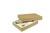 Aufrichteschachtel, 305x215x50/50 mm, 2-teilig, Mikrowellpappe, braun
