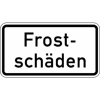 Modellbeispiel: VZ Nr. 2011, (Frostschäden)