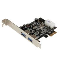StarTech.com 2-poorts PCI Express (PCIe) SuperSpeed USB 3.0-kaartadapter met UASP LP4-voeding
