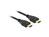 Anschlusskabel, High Speed HDMI mit Ethernet, A Stecker an A Stecker, 4K, schwarz, 1m, Delock® [84713]