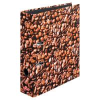 Ordner maX.file A4 8cm Kaffee, Bilderdruckpapier cellophaniert/Papier schwarz