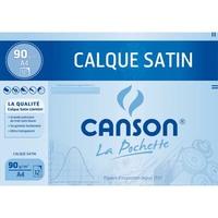 CANSON Pochette de 12 feuilles papier calque satin 90g A4 Ref-17154
