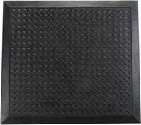 Floortex Mat Rubber Anti Fatigue Textured Anti Slip Bevelled Edge 710x780mm Ripple Pattern