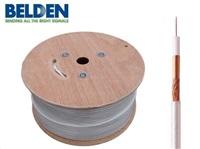 BELDEN H125 CU - koaxiální kabel, průměr 7mm, PVC, impedance 75 Ohm, bílý, 500m