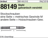 Stockschrauben M6x100
