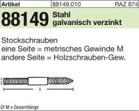 Stockschrauben M10x100