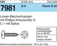 Blechschrauben C2,2x19-H