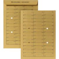 Hausposttasche, 4Sichtl., gum, B4, 250x353mm, 120g/m², braun