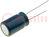 Kondensator: elektrolityczny; niskoimpedancyjny; THT; 1000uF