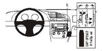 Brodit Fahrzeughalter ProClip für Ford Fiesta 96-02
