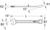 CHROMEplus Ringsteeksleutel, gebogen, 22mm