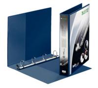 Ringbuch SoftClick, A4, 2 Außentaschen, 4 Ringe, 30 mm, blau