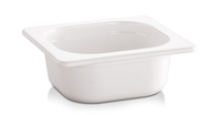 -GN 1/6 Behälter - ECO LINE- 17,6 x 16,2 cm, Tiefe: 100 mm Melamin, weiß, 1