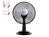 Tischventilator, Lüfter, Ventilator Ø 30 cm 3 Stufen, mit Tragegriff, schwarz