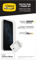 OtterBox Protection + Power Kit Apple iPhone SE (2020)/8/7 (React Transparent / Trusted Glass / UK USB-C Wall Charger 20W - Wit) - beschermhoesje + Gehard glazen screenpRedector...