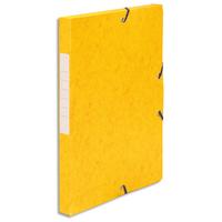 5 ETOILES Boîte de classement à élastique en carte lustrée 7/10, 600g. Dos 25mm. Coloris jaune.