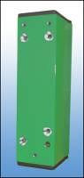 Distanzstück, 60 mm , grün , inkl. Abdeckkappen