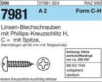 Blechschrauben C4,8x16-H