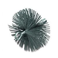 Kaminbürsten mit Öse und Innengewinde IBZG, Flachdraht STA 2,00 x 0,40 mm mit Muffe M 12i