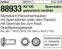 6kt.-Flanschschrauben M10x25