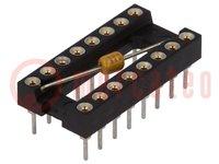 Foglalat: DIP; PIN:16; 7,62mm; aranyozott; polieszter; UL94V-0; 10Ω
