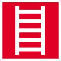 Leiter Brandschutzschild, Alu, langnachleuchtend, Safety Marking, 14,80x14,80 cm BGV A8 F04
