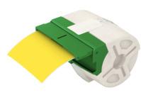 Endlos-Etikettenkassette Icon, permanent klebend, Plastik, 88mmx10m, gelb