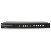 StarTech.com 4-poorts DVI USB KVM switch met dubbele DVI-console en Quad-View 4-in-1 weergave
