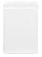 Normalansicht - Ecobra Schreibplatte aus Kunststoff mit zweifacher Anschlagkante (links und unten) weiß, DIN A4,