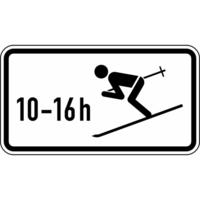 Modellbeispiel: VZ Nr. 1040-10, (Wintersport erlaubt, zeitlich beschränkt)