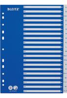 Plastikregister A-Z, A4, PP, 20 Blatt, Blisterverpackung, weiss