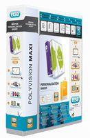 Elba Polyvision Maxi Presentation Binder Clear Polypropylene 4 D-Ring 25mm A4 Ref 100201774 [Pack 10]