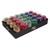 CLAIREFONTAINE Plateau de 24 bolduc œufs brillant 10mx7mm. 6 coloris classiques assortis
