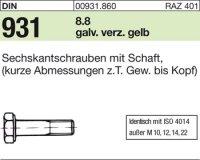 DIN931 M16x150