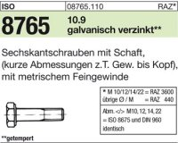 ISO8765 M14x1,5x50