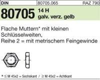 Flache Muttern M18x1,5