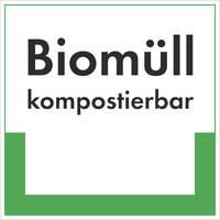 Abfallkennzeichnung - Textschild, Biomüll, Größe (BxH): 40,0 x 40,0 cm