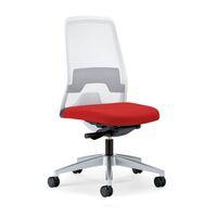 Krzesło obrotowe dla operatora EVERY, oparcie siatkowe, białe