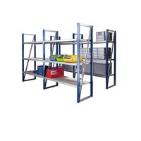 Wide span boltless shelf unit, shelf width 1500 mm