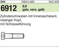 DIN6912 M6 x 10 mm Stahl galvanisch verzinkt gelb 8.8