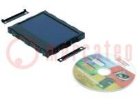 Display: LCD; grafisch; STN Negative; 160x104; blauw; LED; PIN:40