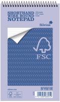 Silvine Notebook Spiral Bound FSC Paper Feint Ruled 160 Pages 60gsm 125x200mm Ref FSC160 [Pack 10]