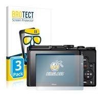3x BROTECT® AirGlass® Premium Panzerglasfolie Klar für Nikon Coolpix A900