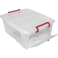 Office Depot Opbergdoos Transparant plastic 37 x 47 x 19 cm